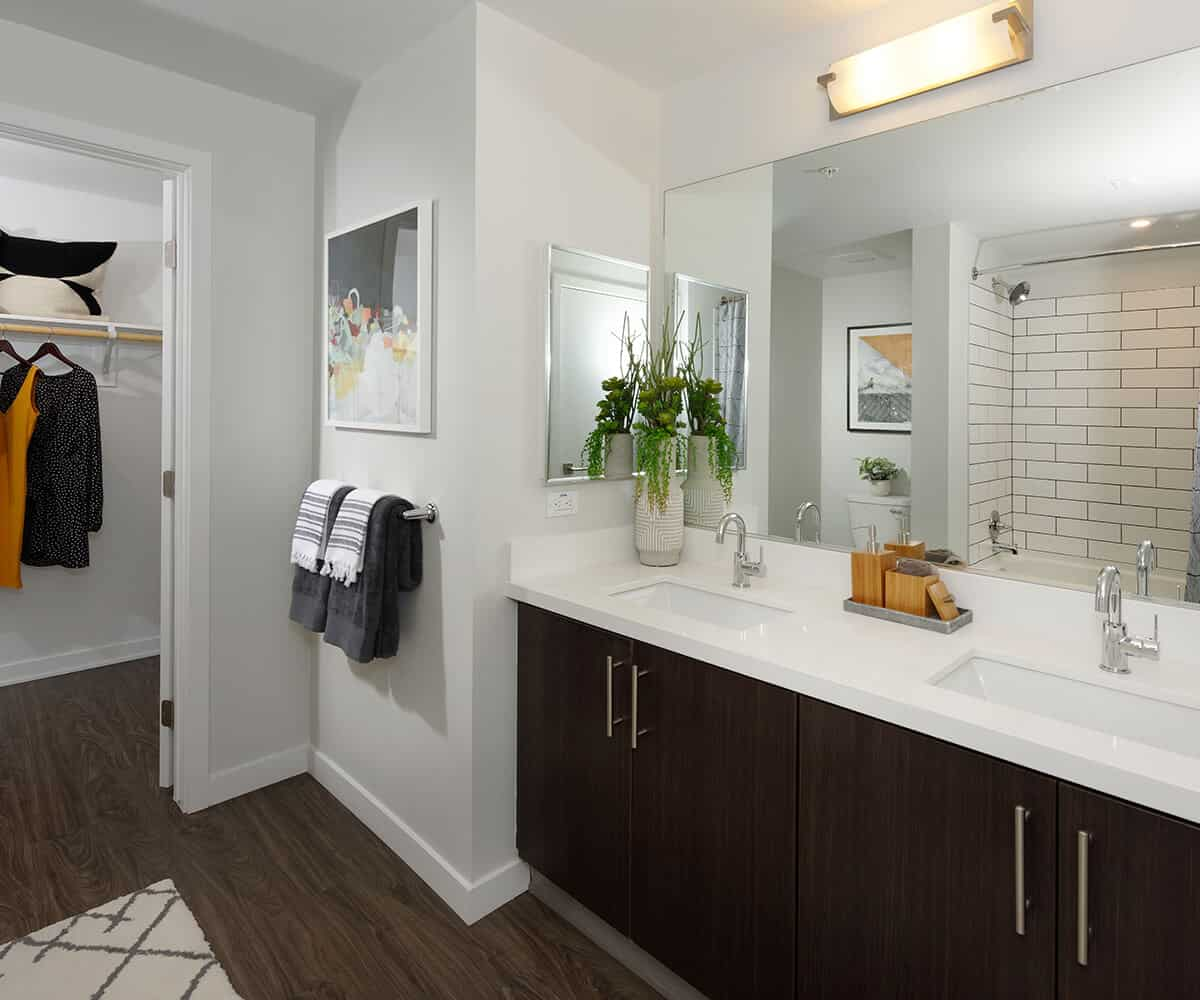 MODA Monrovia Apartments Plan B1 Bath