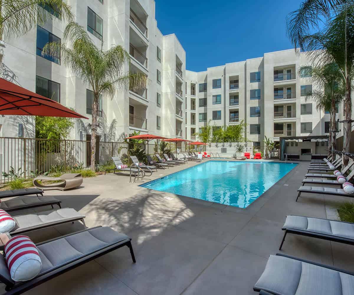 MODA Monrovia Apartments Pool
