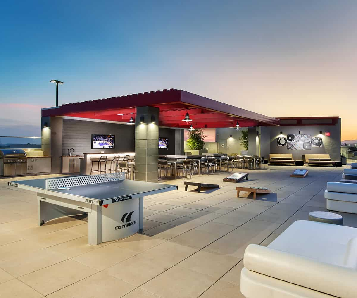 Rooftop Lounge MODA Monrovia Apartments