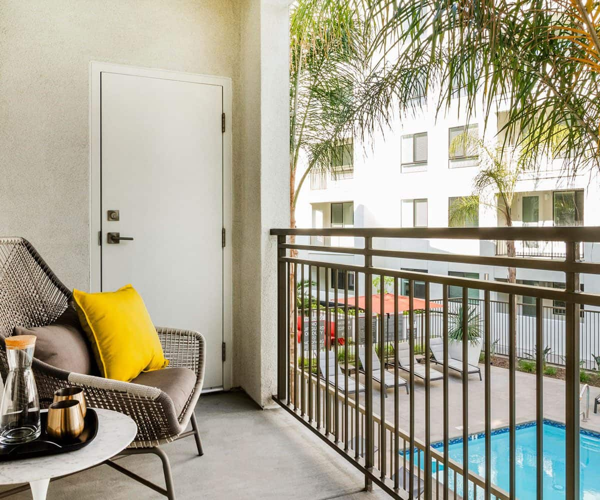 Monrovia Apartments MODA Plan B1 Balcony