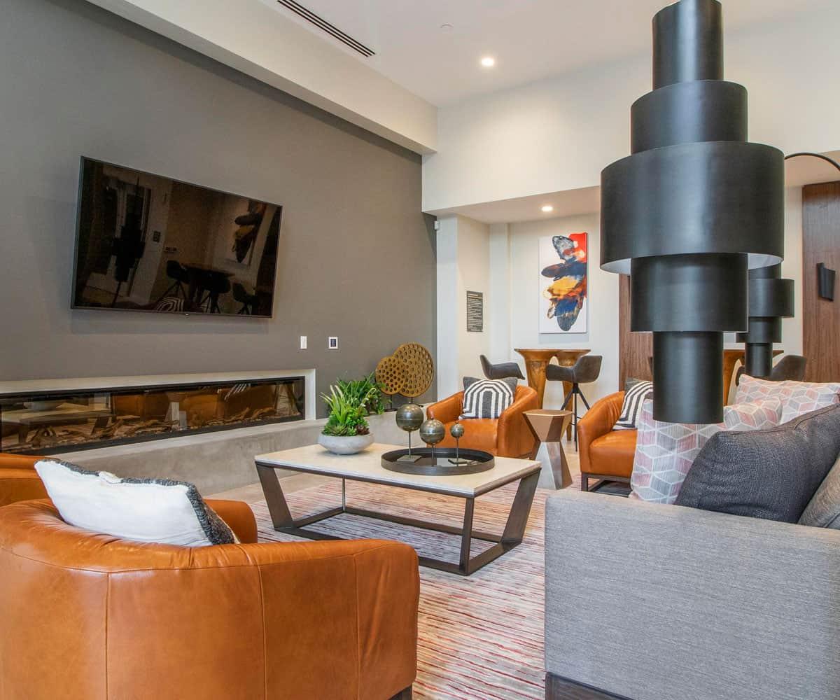 Club Room MODA Monrovia Luxury Apartments