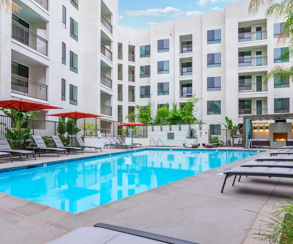 MODA Luxury Apartments Monrovia Pool