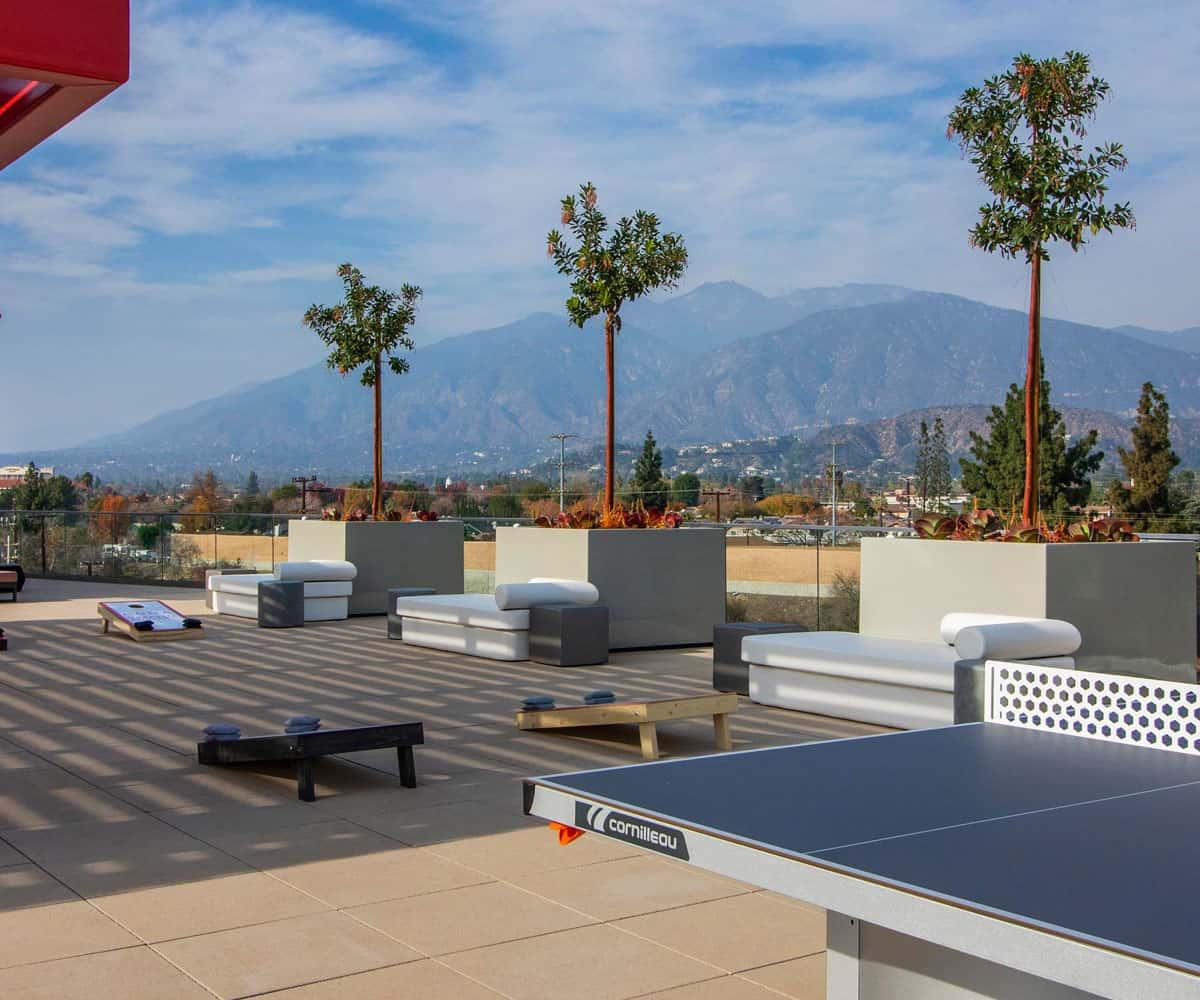 Roof Top Lounge at MODA Monrovia Luxury Apartments